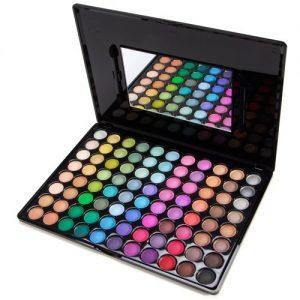 Palette-classique-88-couleurs-ombres-A-paupieres-fard-serie-mat-nacre-maquillage-RETRO-LOVE-brosse-0