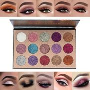 Professionnel-15-Couleur-Smokey-Ombre-Fards--Paupires-Glitter-Shimmer-Impermable-et-Maquillage-Eyeshadow-Palette-0-0