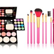 Time-Song-Professional-Cosmetic-Makeup-Palette-Fard--Paupires-Set-Kit-include-Blusher-Face-Powder-Lip-Gloss-Makeup-Brushes-Set-7pcs-rose-Brushes-by-Time-Song-0-0