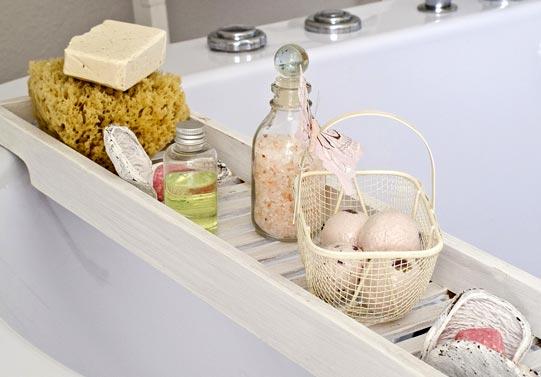 cosmétiques bio salle de bains