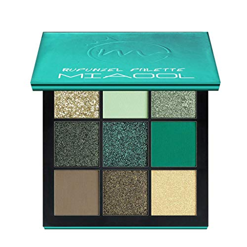 99Lamour-9-Couleurs-Fard–paupires-Shimmer-Mate-Palette-Cosmtiques-Brush-Set-de-Maquillagecosmtique-Scintillement-Matte-Ombre-palettes-Eye-Maquillage-Ensemble-Vert-0