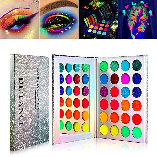 Palette-de-fards–paupires-non-Glow-in-the-Dark-DELANCI-Aurora-Glow-Palette-de-fards–paupires-Stage-Kit-de-maquillage-Halloween-UV-Glitter-Ombres–paupires-fluorescentes-Pigment-Luminous-0